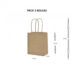 BOLSA PAPEL KRAF ±21X15CM...
