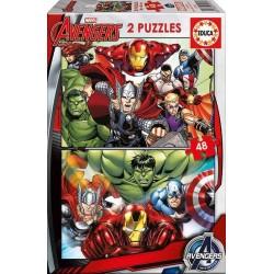 PUZZLE EDUCA 2x48PZAS AVENGERS