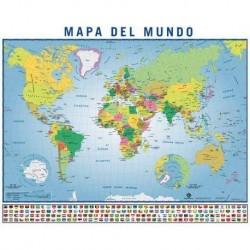 POSTER MAPA DEL MUNDO 40X50CM