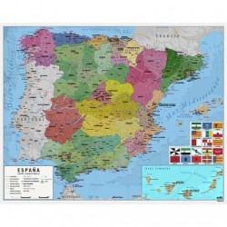 POSTER MAPA DE ESPAÑA 40X50CM