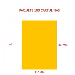 CARTULINA A4 COLOR AMARILLO...