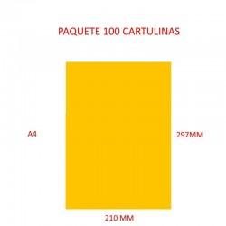 CARTULINA A4 COLOR AMARILLO...