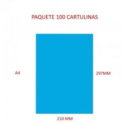 CARTULINA A4 COLOR AZUL...