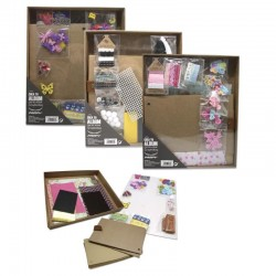 ALBUM FOTOS SCRAPBOOK SET...