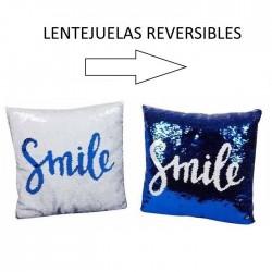 COJIN 38CM LENTEJUELAS SMILE
