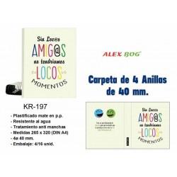 CARPETA A4 4 ANILLAS SIN...