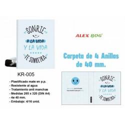 CARPETA A4 4 ANILLAS SONRIE...