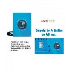 CARPETA A4 4 ANILLAS...