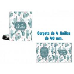 CARPETA A4 4 ANILLAS 40MM...