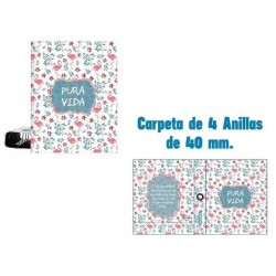 CARPETA A4 4 ANILLAS 40MM...