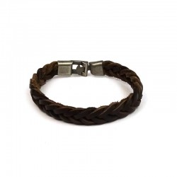 PULSERA NATURAL PIEL MARRON...