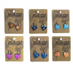 PENDIENTES NATURAL CORAZON...
