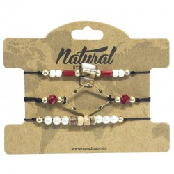 PULSERA NATURAL CUERDA...