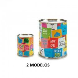 HUCHA DE METAL NOTAS 2 MODELOS