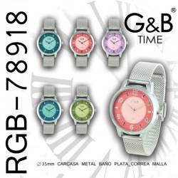 RELOJ PULSERA RGB-78918 G&B...