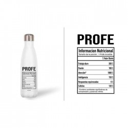 BOTELLA ACERO 500ML PROFE...
