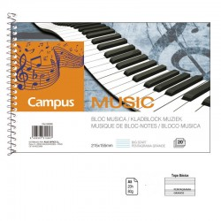 BLOC MUSICA A5 20 HOJAS...