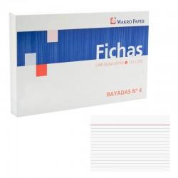 FICHAS RAYADAS Nº4 125*200 PAQ