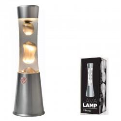 LAMPARA LAVA 30CM PLATA
