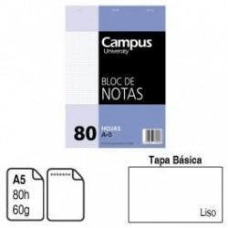 BLOC NOTAS ENCOLADO A5 LISO...