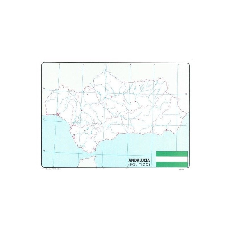 Mapa De Andalucia Politico.Mapa Politico Andalucia