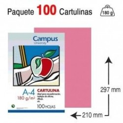 CARTULINA A4 COLOR ROSA...
