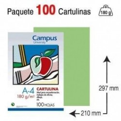 CARTULINA A4 COLOR VERDE...