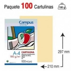 CARTULINA A4 COLOR CREMA...