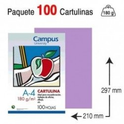 CARTULINA A4 COLOR LILA...