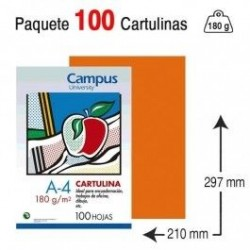 CARTULINA A4 COLOR NARANJA...