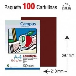 CARTULINA A4 COLOR GRANATE...