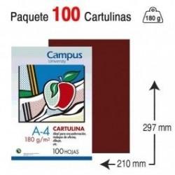 CARTULINA A4 COLOR GRANATE...