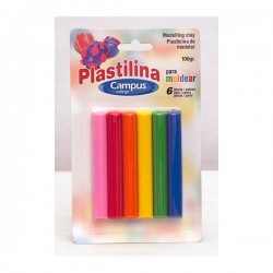 PLASTILINA BARRA SET 6 COLORES