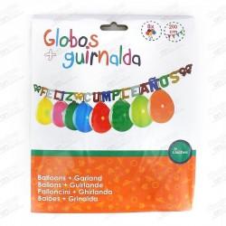 GLOBOS GUIRNALDA FELICIDADES