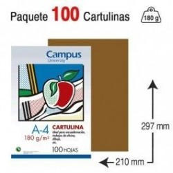 CARTULINA A4 COLOR MARRON...