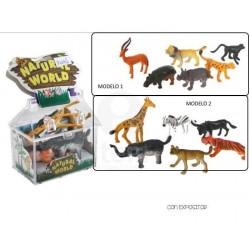 SET 6 ANIMALES PVC ±5CM
