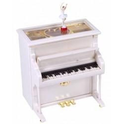 JOYERO PIANO MUSICAL BLANCO...