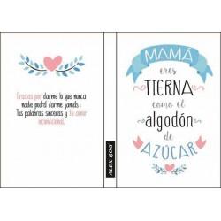LIBRETA MENSAJE A5 MAMA...